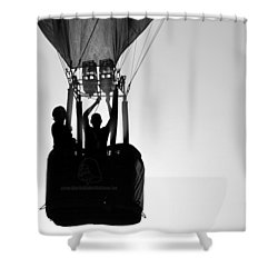 Shower Curtain featuring the photograph The Balloon Pilot by AJ Schibig