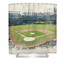 The Ballpark Shower Curtain