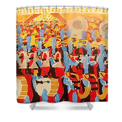 The Band Shower Curtain by Rodger Ellingson