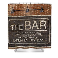 The Bar - Movie Set Art Print Shower Curtain