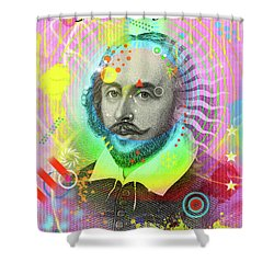 The Bard Shower Curtain by Gary Grayson