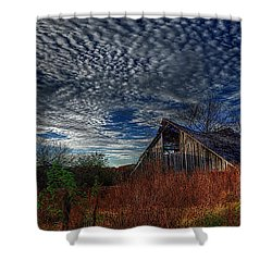 The Barn At Twilight Shower Curtain
