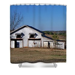 Shower Curtain featuring the photograph The Barn by Betty Northcutt