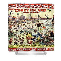 The Barnum And Bailey Greatest Show On Earth The Great Coney Island Water Carnival Shower Curtain