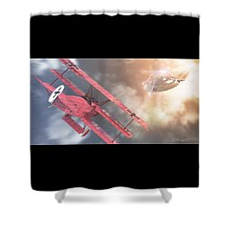 The Baron's Most Unusual Encounter Shower Curtain by David Collins