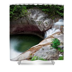 The Basin From Above Shower Curtain