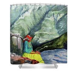 The Basket Maker  Shower Curtain