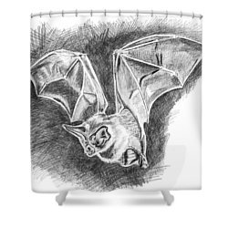 The Bat Shower Curtain