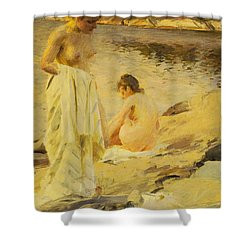 The Bathers Shower Curtain by Anders Leonard Zorn