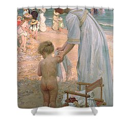 The Bathing Hour  Shower Curtain by Emmanuel Phillips Fox