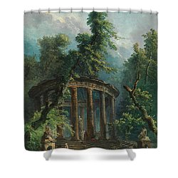 The Bathing Pool Shower Curtain