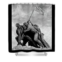 The Battle For Iwo Jima By Todd Krasovetz Shower Curtain by Todd Krasovetz