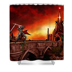 The Battle For The Crystal Castle Shower Curtain by James Christopher Hill