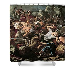 The Battle Shower Curtain by Nicolas Poussin