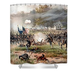 The Battle Of Antietam Shower Curtain by War Is Hell Store