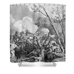 The Battle Of Bull Run Shower Curtain