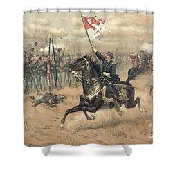 The Battle Of Cedar Creek Virginia Shower Curtain