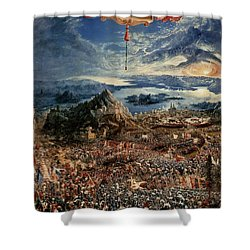 The Battle Of Issus Shower Curtain by Albrecht Altdorfer