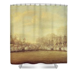 The Battle Of Negapatam Shower Curtain by Dominic Serres