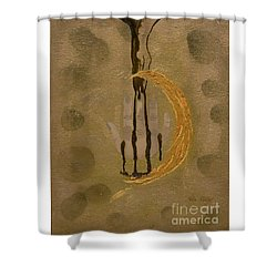The Battle Of Religons And Wars 4 Liquid Gold Shower Curtain by Talisa Hartley