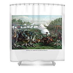 The Battle Of Winchester Shower Curtain by War Is Hell Store