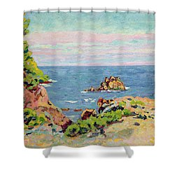 The Baumettes Shower Curtain by Jean Baptiste Armand Guillaumin