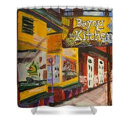 The Bayou Kitchen Shower Curtain