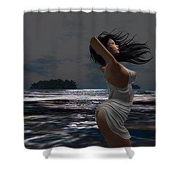 The Beach 2 Shower Curtain