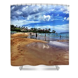 Shower Curtain featuring the photograph The Beach 2 by Michael Albright