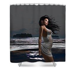 The Beach 3 Shower Curtain