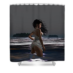 The Beach 4 Shower Curtain