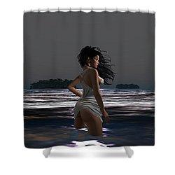 The Beach 4 Shower Curtain
