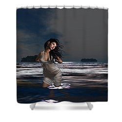 The Beach 5 Shower Curtain