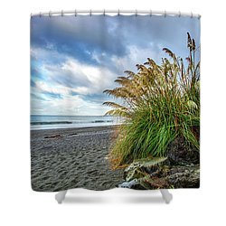 The Beach At Brookings Shower Curtain