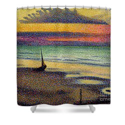 The Beach At Heist Shower Curtain