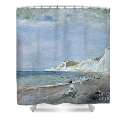 The Beach At Varangeville Shower Curtain by Renoir