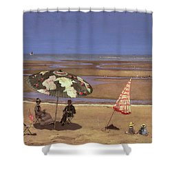 The Beach Shower Curtain by Etienne Moreau Nelaton