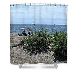 The Beach Shower Curtain by John Scates