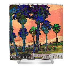 The Beach L3 Shower Curtain