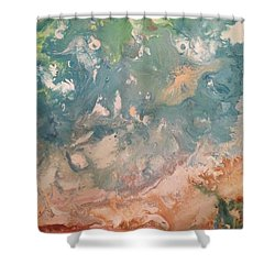 The Beach  Shower Curtain by Margalit Romano