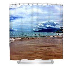 Shower Curtain featuring the photograph The Beach by Michael Albright