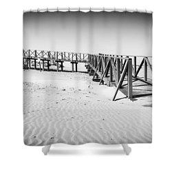The Beach Walkway. Shower Curtain