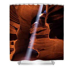 The Beam Of Light Shower Curtain