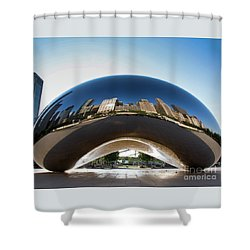 The Bean's Early Morning Reflections Shower Curtain