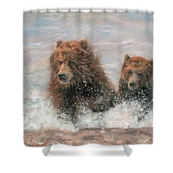 The Bears Are Coming Shower Curtain