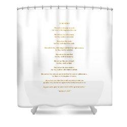 The Beatitudes Gospel Of Matthew Shower Curtain