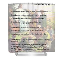 The Beatitudes Shower Curtain