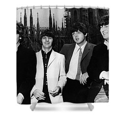 The Beatles, 1960s Shower Curtain by Granger