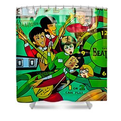 The Beatles - Pinball Art Shower Curtain