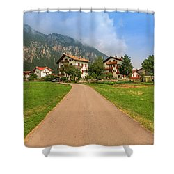 Shower Curtain featuring the photograph The Beautiful Dolomites by Roy McPeak